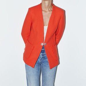 Zara Orange Blazer